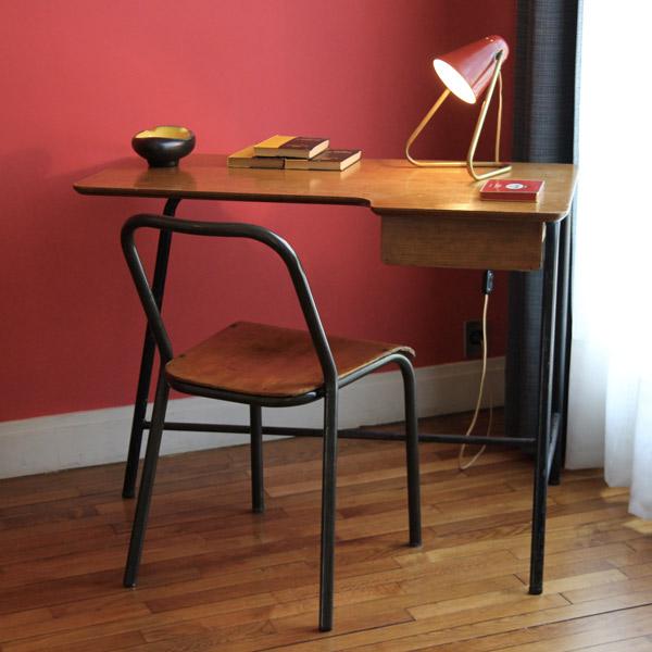 Jacques Hitier Antony desk | Bureau Antony de Jacques Hitier | Desk 1950s | Appartement témoin Auguste Perret | Le Havre | 2013